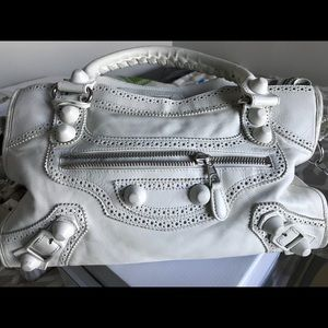 Balenciaga white bag