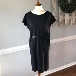 Michael by Michael Kors black belted casual dress