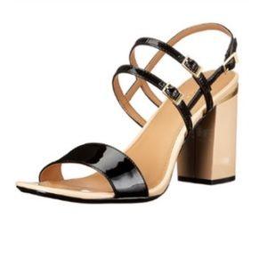 Calvin Klein Black Nude Strappy Sandals