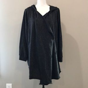 Juicy Couture Metallic Black Cardigan Wrap XL