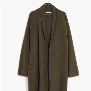 Madewell Rivington Sweater Coat Grey Oatmeal