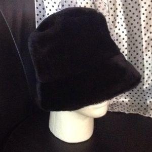 Black faux fur Hat