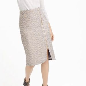 NWT J.Crew Zip-front Pencil Skirt in Sparkle Tweed