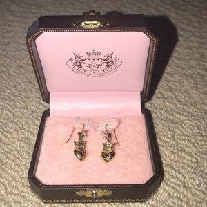 Juicy Couture crown/heart dangle earrings NWT