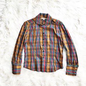 Vintage Diane Von Furstenberg paid blouse