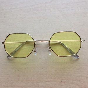 Yellow polygon sunglasses