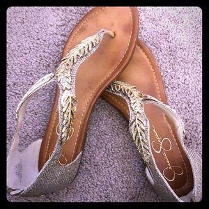 Jessica Simpson - Gold Glitter Sandals