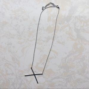Jewelry - [NEW] Anarchy Street: X Cross Silver Necklace
