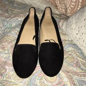 H&M Black Suede Loafers