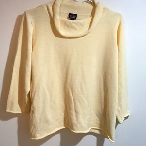 Eileen Fisher Cowl Neck Sweater Yellow Vintage