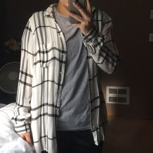 White and gray flannel
