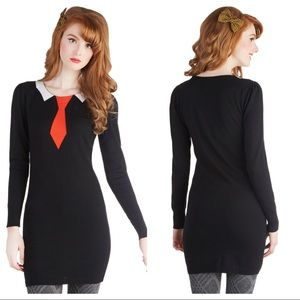 "ModCloth ""Formal Approach"" sweater tunic/minidress"