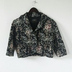Vintage Tapestry Cropped Jacket