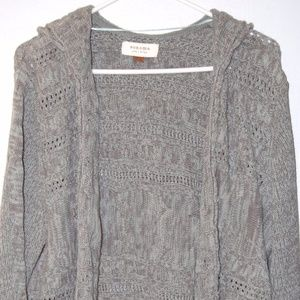 Sonoma XL Olive Toned Hooded Sweater Cardigan