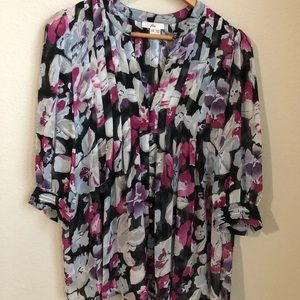 Joie size XS flowy 3/4 sleeve blouse