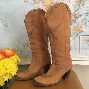 Vintage Boho Zodiac Leather Boots