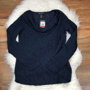 INC Navy Sweater Scoop Neck