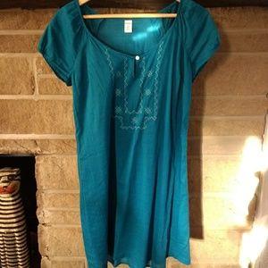 NWOT teal light cotton dress