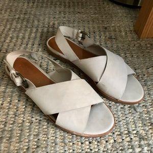 Dolce Vita Suede Cross Sandals
