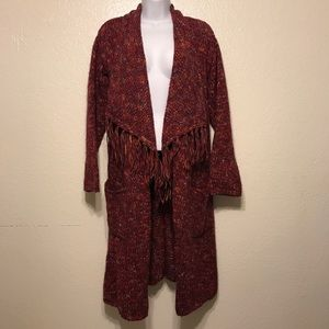 Lucky Brand Open Front Shawl Neck Cardigan Sweater