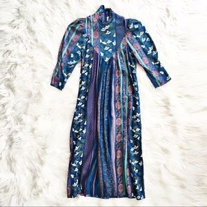 Vintage 80's Jane Schaffhausen floral dress