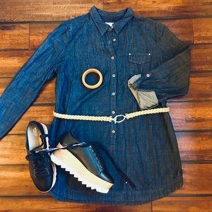 Liz Claiborne Denim Tunic and Belt