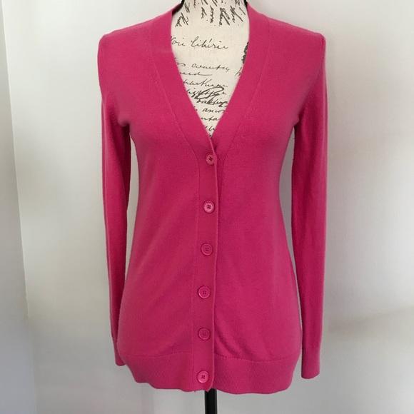 Gap Sweaters Hot Pink Cardigan Sweater Poshmark