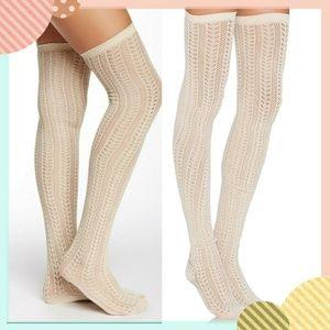 Free People Natural Hammock Thigh-high Socks