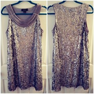 R&M Richards Size 12 Sequined Dress