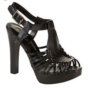 Ralph Lauren platform leather heels size 10
