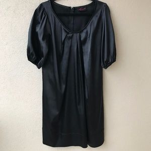 Torrid Shiny Black Bubble Sleeve Mini Dress