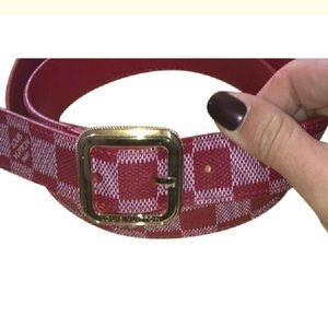Louis Vuitton Belt red
