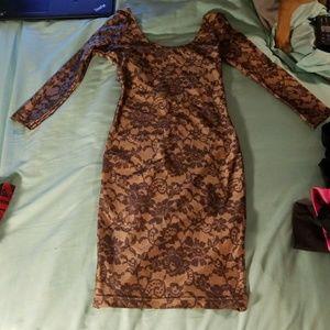 American Apparel lace illusion bodycon dress