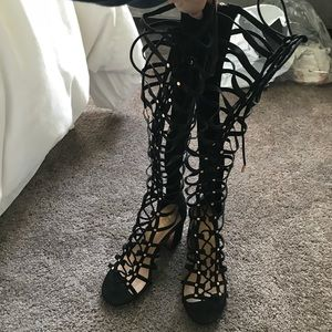 Never worn lace up sandals
