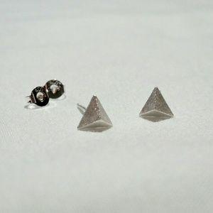 Minimalist triangle earrings