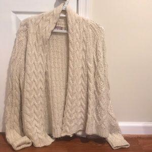 Calypso St. Barth white alpaca knit cardigan