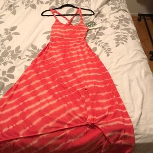 Salmon Roxy sun dress