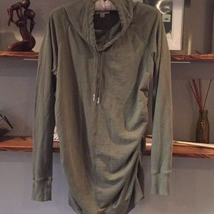 Olive tunic maternity sweatshirt