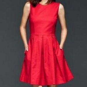 *POCKETS* Gap Red Pleated Dress
