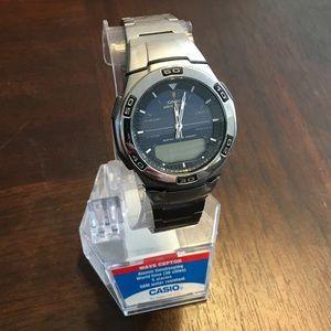 ❗️NWT❗️Casio Wave Ceptor Stainless Steel Watch