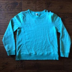 J. Crew | 100% Cotton Turquoise Sweater w/buttons