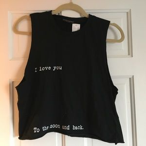 """Brandy """"to the moon and back"""" Muscle Tee"""
