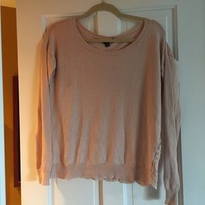 Baby Pink Lace Back Sweater