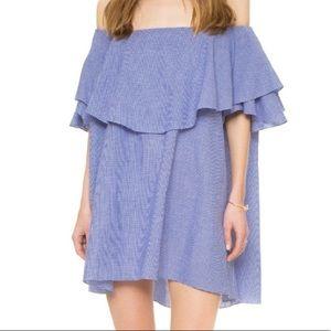 MLM Label Gingham Off The Shoulder Dress