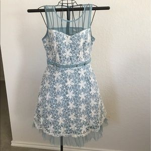 Blue and white vintage dress