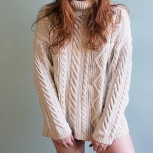 Vintage Calvin Klein Oversized Cable Knit Sweater