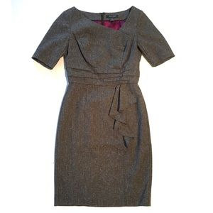 WHBM tweed business dress, short sleeve, grey 0