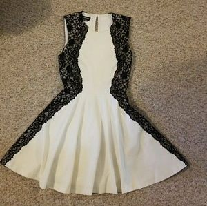 Bebe Lace fit and flare dress