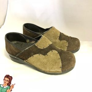 Dansko Pro Mule Brown/Tan Patchowrk Clog Size 38