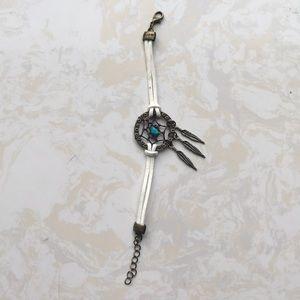 Jewelry - Ashley Bridget: White Dreamcatcher Bracelet